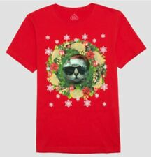 Well Worn Brand Men's Ugly Holiday Cat Lenticular SS Graphic T-Shirt Size M NWT