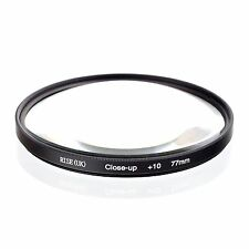 77mm +10 High Definition Close Up Macro Lens Sony Canon Nikon DSLR + FREE Pouch