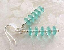 Minimalist Earrings Czech Glass Emerald Green Retro Stack Blogger Asos Us Seller