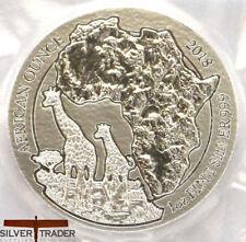 2018 1oz Rwanda African Silver Giraffe 1 ounce Silver Bullion Coin unc: