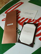 Invitation publicité PEUGEOT 604 TI V6 SL  avec pochette cuir