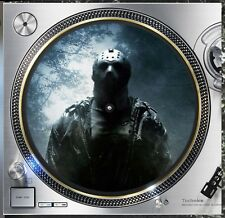 "Jason Voorhees #2 Friday 13th Slipmat Turntable 12"" Record Player, DJ Audiophile"