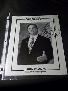 WCW WORLD CHAMPIONSHIP WRESTLING Signed LARRY ZBYSZKO 8X10 PHOTO WWF WWE