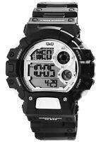 Q&Q Herrenuhr Weiß Schwarz Digital Silikon Alarm Quarz Armbanduhr XM144J008Y
