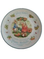 """Wedgwood Peter Rabbit 8"""" Collectible Plate Happy Birthday 2000"""