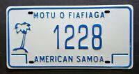 American Samoa Island PALM TREE - FIAFIAGA Licsense Plate 1228