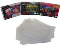 Super Nintendo SNES Box Clear Sleeve Protector Covers Dropdown Menu