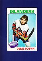 Denis Potvin HOF 1975-76 O-PEE-CHEE OPC Hockey #275 (EX+) New York Islanders