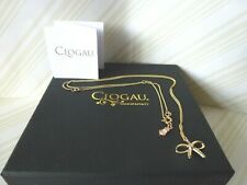 "Clogau Gold, 9ct Yellow Gold Tree of Life Diamond Bow Pendant 22"" Chain RRP £520"