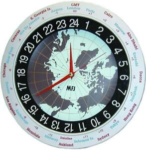MFJ-115 Clock, 12/24-hour, analog, 12in - Authorized Dealer