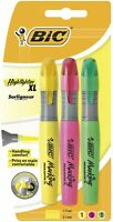 BIC Highlighters XL Assorted Fluorescent Colours 3 Pack