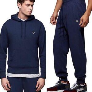 TRUE RELIGION Mens Solid Logo Blue Sweatsuit Size XL