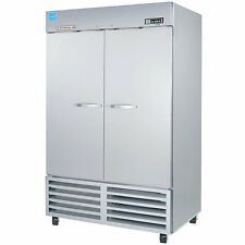 Beverage Air Kr48-1As, 54-Inch Two Section Reach-In Refrigerator with 2 Solid Do