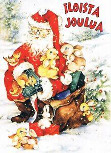 Postcard Finnland Finland Suomi Weihnachten Christmas Weihnachtsmann Glückwunsch