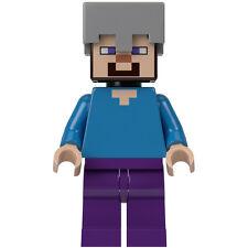 LEGO Minecraft 21121 Steve with Helmet  Minifigure NEW