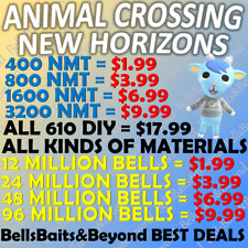 Animal Crossing:New Horizons Bells, Nook Mile Tickets, Fish Bait Fast Delivery~