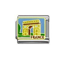 Italian Charm E89 Paris France Arc de Triomph Fits Classic Size Bracelet