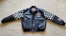 VTG 90's Jeff Hamilton NASCAR 50th Anniversary NASCAR Leather Jacket Sz XL EUC