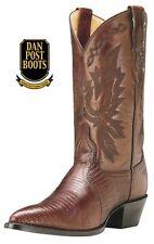 Dan Post DP3451J Women's Exotic Teju Lizard Boots (Antique Tan) size 9M