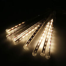 Meteor Shower Falling Rain Drop Snow Icicle Xmas Party Tree Fairy String Lights
