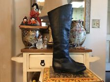 Steve Madden Creation Black Leather Over The Knee Boots Womens Size 8.5 M