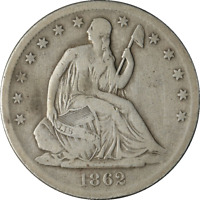 1862-S Seated Half Dollar Great Deals From The Executive Coin Company - BBHE5588