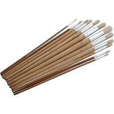 12 PC ROUND TIP  XL ARTIST PAINT BRUSH SET PROFESSIONAL QUALITY ART AND CRAFT