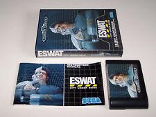 E-Swat ESWAT-Sega Mega Drive-PAL Reino Unido-en Caja Y Completo-en muy buena condición COND