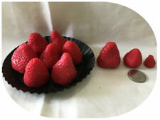 Large wax strawberries,embeds,tarts . Set of 15 Free Shipping