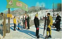Postcard NY Grossinger's Resort Catskills Chrome Ski Skiers VTG Clothing