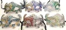 Lot of 6 Mix Glittery Masks Adult Mardi Gras Halloween Costume Accessory New