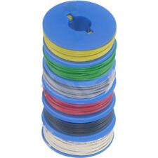 6 x 10m Litze 0,14mm² auf Spulen 6 Farben deutsche Qualität gl-gn-gr-rt-sw-ws