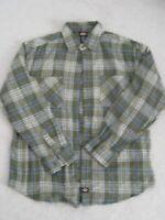 NWOT DICKIES men's long sleeve plaid flannel shirt Size Medium