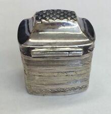 Antique Solid Silver Hallmarked Dutch Pill / Snuff Box Decorative Circa 1844
