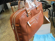 Piquadro Up2Date Tan Expandable Computer Bag, 2 handles and...--- CA1429UP/CU