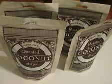 4 Bags of Trader Joe's Roasted Coconut Chips 2 oz Each Bag