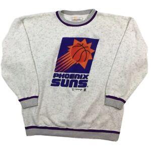 Vintage Phoenix Suns NBA Grey Crewneck Sweatshirt. Mens Large