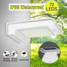 72 LED Solar Gutter Security Wall Light Outdoor Motion Senson Lamp Waterproof