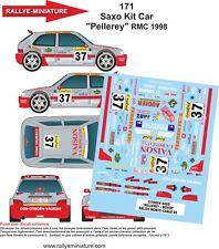 DECALS 1/24 REF 171 CITROEN SAXO KIT CAR PELLEREY RALLYE MONTE CARLO 1998 RALLY