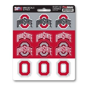 Ohio State Buckeyes Mini Decals Stickers 12 Pack FAST USA SHIPPER