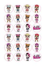 24 x Lol Surprise Doll Cup Cake Toppers ICING
