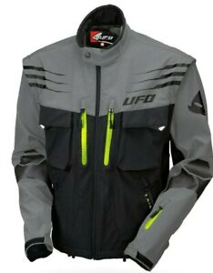 UFO 2021 Tiaga Enduro Jacket  - Grey - Removable sleeves - ALL Sizes