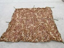 SURPLUS MILITARY SINGLE FOLIAGE CAMOUFLAGE NET DESERT CAMO DIMENSION:50.5''X44