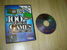 100+ GREAT GAMES PC CDROM - ARCADE / CASINO / SPORTS / BOARD / CARD