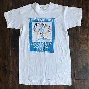 Vintage 1984 Los Angeles Olympics Picasso La Ronde Youth Circle Graphic T-Shirt