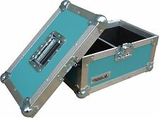 "7"" solo 200 estuche de vuelo de Cisne Caja de discos de vinilo (PVC) rígido Turquesa"
