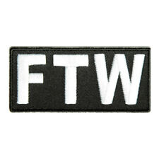 Embroidered FTW Forever Two Wheels Sew or Iron on Patch Biker Patch