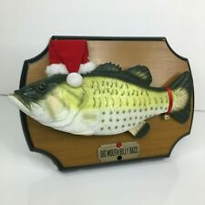 Big Mouth Billy Bass Singing  Fish Santa Hat Christmas Edition 1999 Tested Works