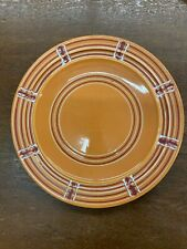 Blue w/t Rust Green Design Vintage Lunch Plate 611 Pacific Pottery California