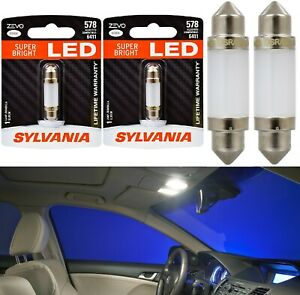 Sylvania ZEVO LED Light 578 White 6000K Two Bulbs Interior Dome Upgrade Stock OE
